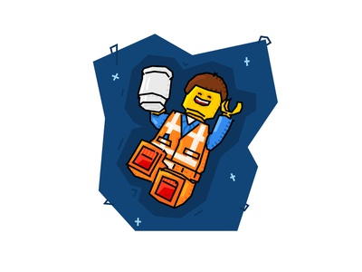 The Lego Movie - Emmet orange graphic  design vector illustrator illustration emmet movie lego