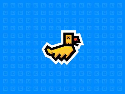 Rubber Duck - Sticker bold yellow vector illustrator illustration stickermule sticker rubber rubberduck