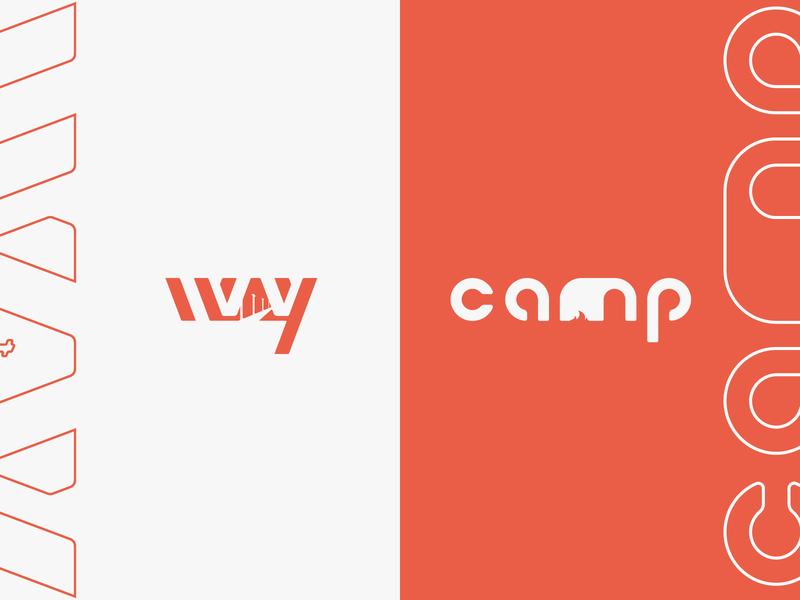 Way and Camp - Schoolwork Logo Design letter branding logotype olwens clean logo creative flat art design schoolwork