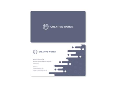 Daily UI - #3 - Business Card // CreativeWorld