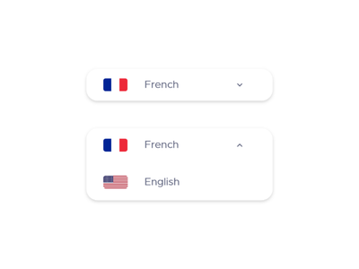 Daily UI - #9 Dropdown Languages // CreativeWorld graphics design graphic shadow 2d flat simple purple white website design art daily ui english french languages drop dropdown