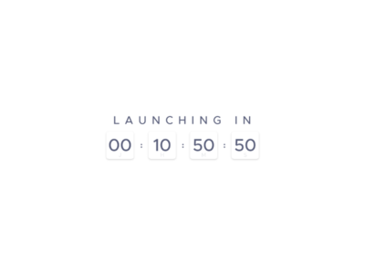 Daily UI - #13 - Simple Countdown // Last of CreativeWorld 2d flat art design daily ui in launching purple white simple countdown