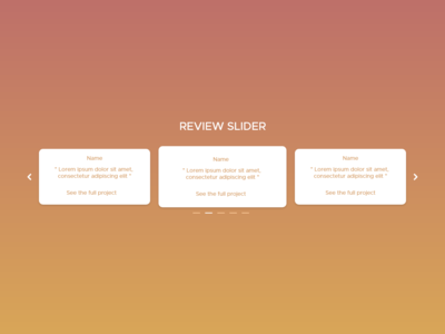 Daily UI - #18 - Review slider