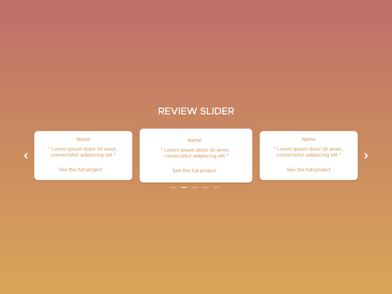 Daily UI - #18 - Review slider website part creative lorem ipsum slider review orange clean daily ui art flat design 2d