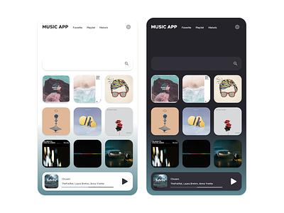 Daily UI - #20 - Music App uidesign ui settings search music player music design dailyui daily color clean blue art application app album