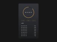 Daily UI - #22 - Stopwatch