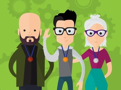 Hipster characters! flat vector character hipster