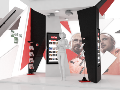 AXN Stand 3d axn model render stand