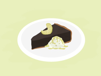 Chocolate Key Lime Pie <3 food dessert ice cream pie key lime chocolate