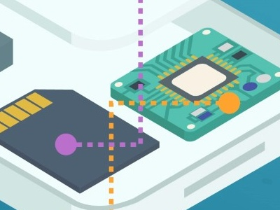 Isometric phone iphone phone parts chip disassembly infographic cell phone isometric perspective