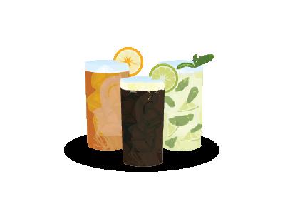 Garibaldi, Fernet & Mojito time vector drinks mojito fernet garibaldi