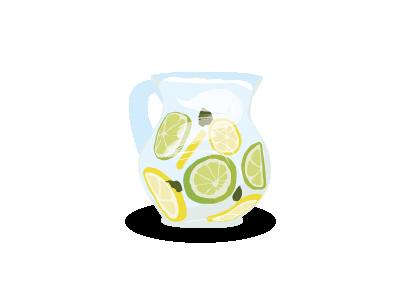 Lemon jug water drink vector lemon jug lemonade