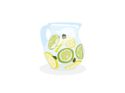 Lemon jug water drink vector lemon jug lemonade