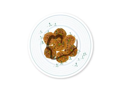 Meatballs plate turkey infographic illustration food meatballs