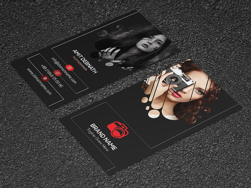 Photographer Identy Card photographer simple elegant creative card personal card photographer business card visiting card business card