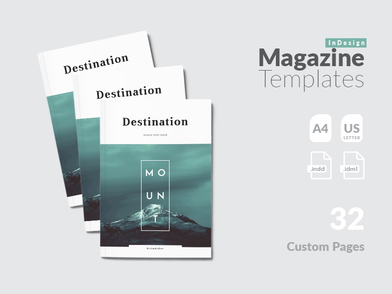 Indesign Magazine Template By Amit Debnath Dribbble Dribbble