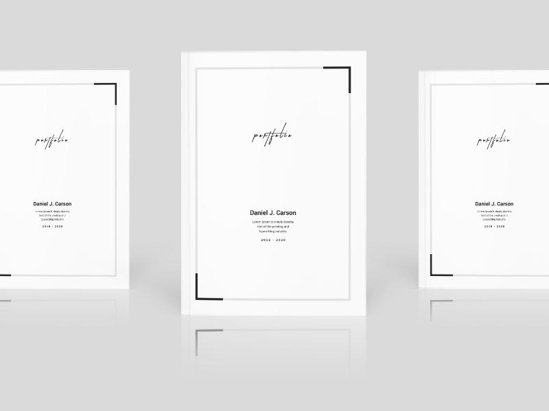 minimal portfolio cover layout by amit debnath dribbble dribbble