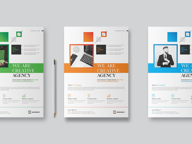 indesign corporate flyer layout minimal flyer elegant corporate flyer business agency templates magazine ads clean multipurpose