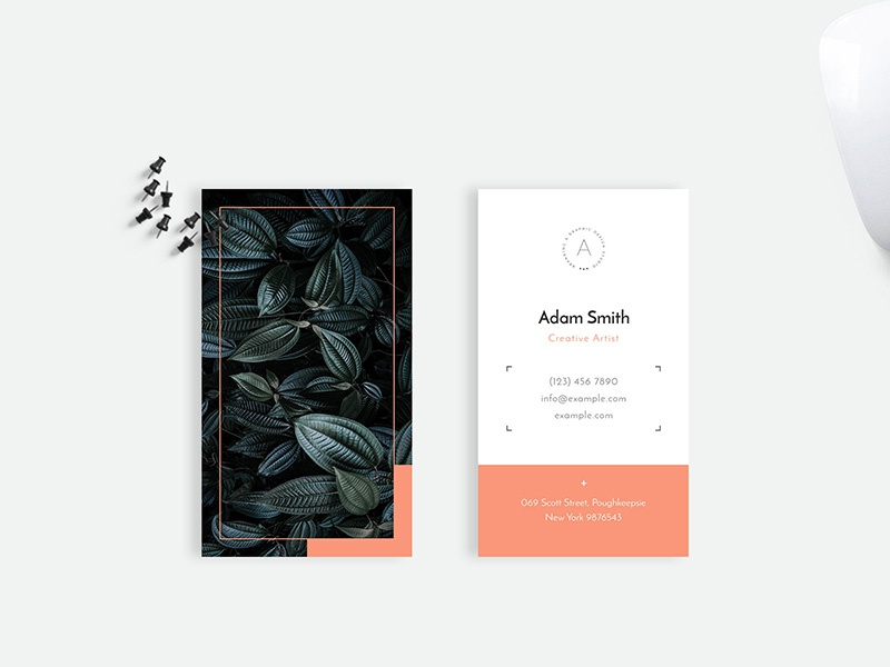 Minimal Business Card Design By Amit Debnath Dribbble Dribbble