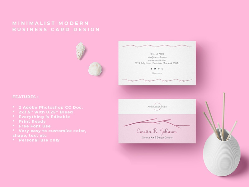 minimalist modern business card designamit debnath on