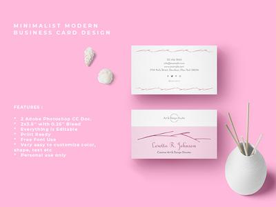 Minimalist Modern Business Card Design