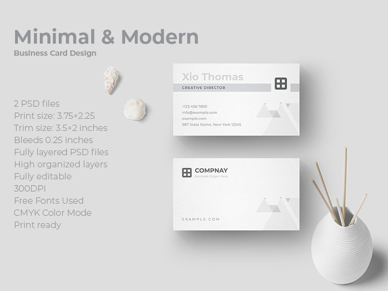 Minimal And Modern Business Card Design By Amit Debnath Dribbble