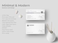 Minimal And Modern Business Card Design