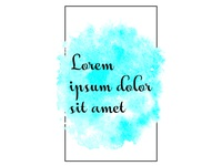 Vector Watercolor Template For Your Text Modern Watercolor