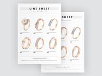 Elegant Line Sheet Layout