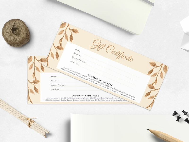 Gifts Certificate Template By Amit Debnath Dribbble Dribbble