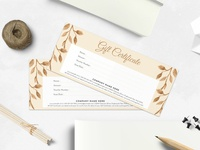 Gifts Certificate Template