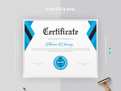 Modern certificate template layout