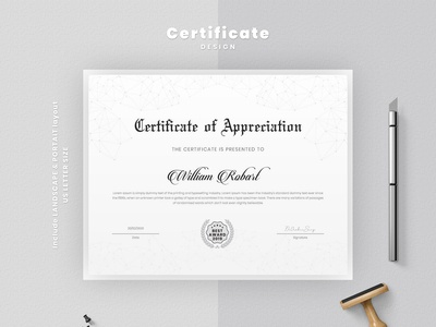 Elegant Certificate Design Layout