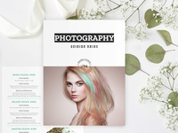 Photographer packaging and pricing list template