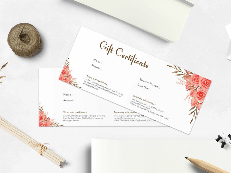 Modern Gift Certificate Template By Amit Debnath Dribbble Dribbble