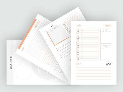 Elegant Daily Planner Templates