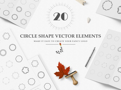 Wreaths | Circle Floral For Fancy LOGO | Vector Leaves