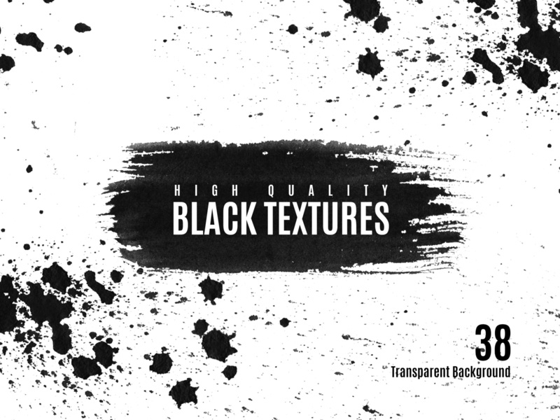 Watercolor Black Texture Clip Art round handmade clipart artwork watercolor black and white textures black multipurpose professional clean minimal layout branding creative logo ui modern illustration elegant