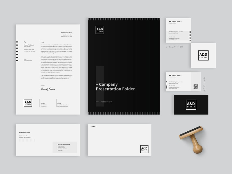 Minimal Corporate Identity Pack folder corporate pack branding identity set flyer corporate business card templates corporate design idvoice letterhead multipurpose simple layout identity branding identity design business corporate identity elegant professional