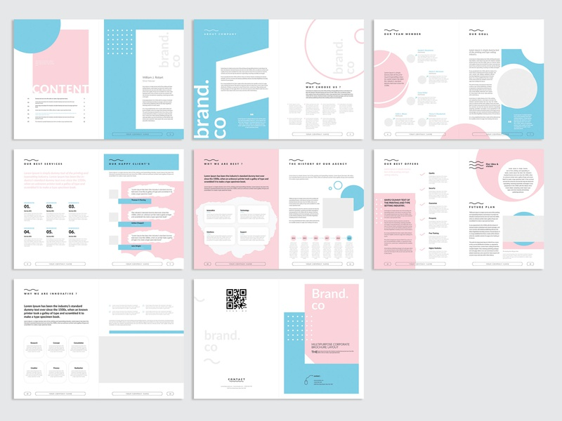 Business Profile Layout brochure template borchure indesign profile design layout multiple creative corporate proposal plan template business profile simple modern multipurpose professional clean minimal elegant