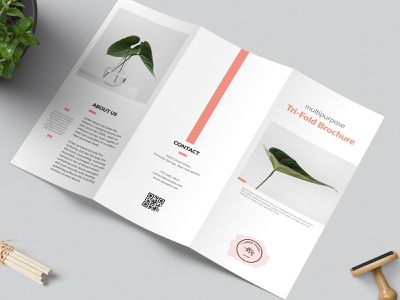 Multipurpose Tri-Fold Brochure Template professional clean minimal elegant brochure layout clean brochure minimalist layout promotional business brochure elegant brochure minimal brochure brochure design trifold brochure multiple brochure brochure template multipurpose botanical brochure