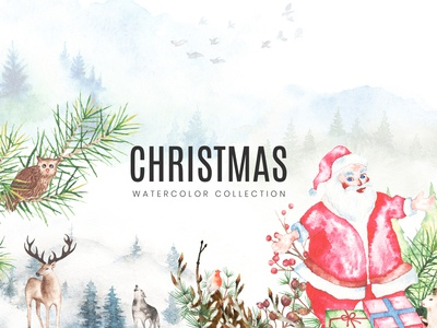2020 Christmas Watercolor Collection