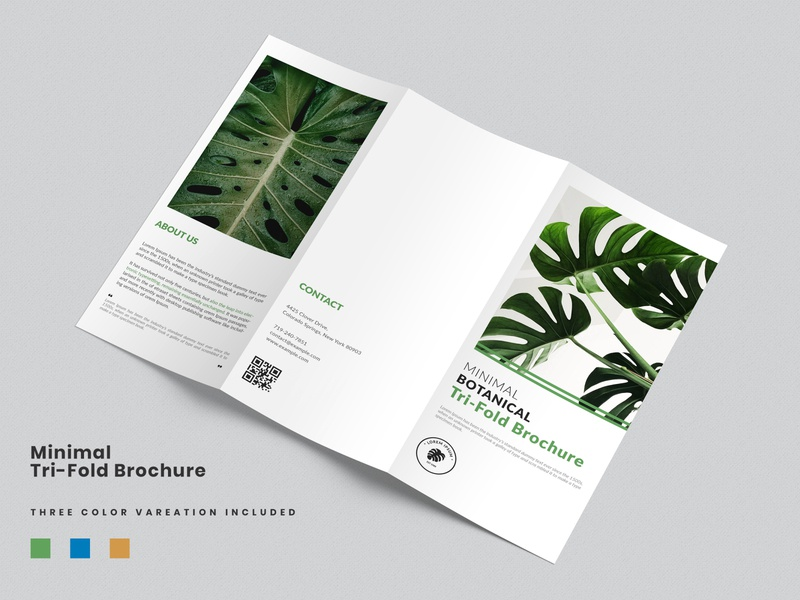 Minimal Tri-Fold Brochure Template multipurpose layout creative minimal branding modern clean brochure modern brochure professional minimalist brochure layout elegant brochure simple brochure multipurpose template botanical brochure brochure template trifold brochure minimal brochure