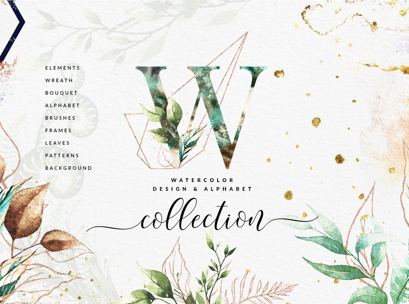Eligible Watercolor Collection photoshop elements eligible collection clip art watercolor art transparent png creative elements watercolor geometric botanical leaf wreath bouquet botanical elements photoshop brush golden shape geometric frames textures background alphabet patterns watercolor elements