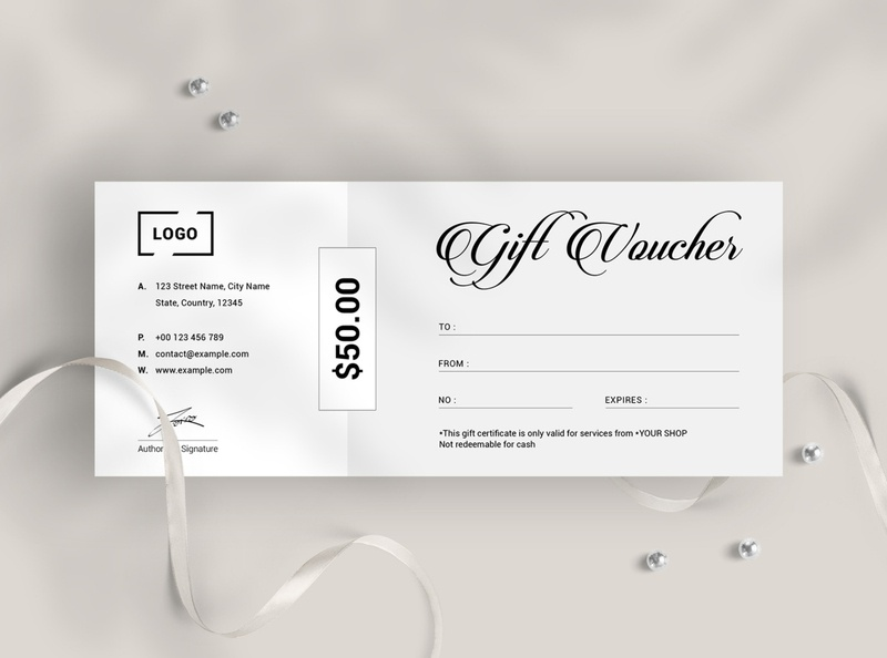 Gift Voucher Template special gift postcard clean voucher modern voucher fashion gift voucher fashion sale voucher fashion voucher minimalist voucher certificate layout holiday offer minimal gift card shop voucher certificate voucher offer sale gift offer gift elegant gift gift certificate gift voucher
