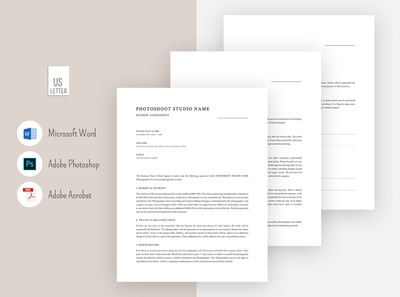 Photography Contact Template