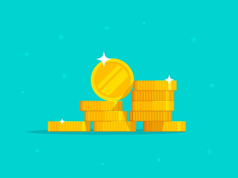 Coins Money Stack Vector flat stacked penny golden cash vector coins money stack coin