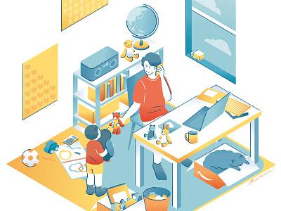 remotework #02 remotework room illustration