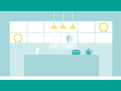 kitchen motiongraphics landscape illustration