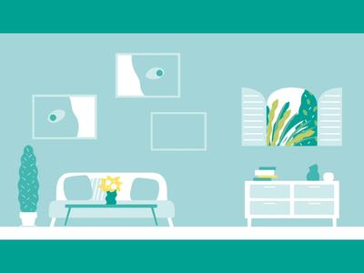interior motiongraphics landscape illustration